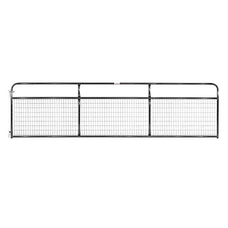 Tarter 2 in. x 4 in. Mesh Wirefilled Gate, Black, 16 ft., WFGBL16