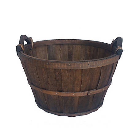 Red Shed Round Basket