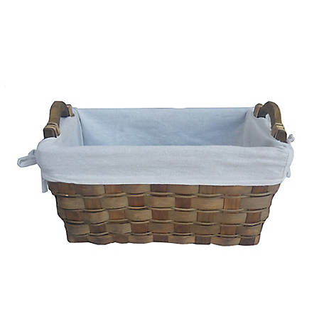 Red Shed Basket with Fabric Liner