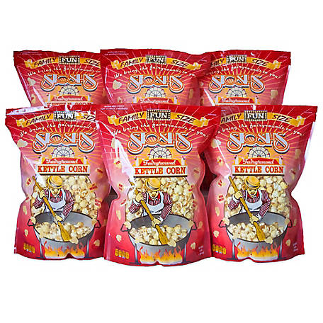 Stosh's 6 Bags of 14 oz. Family Size Kettle Corn, 6-14OZFSKC
