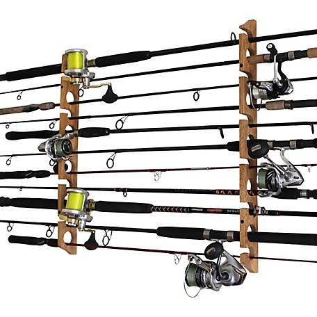 Rush Creek Creations Cherry 2-in-1 11-Rod Wall Ceiling Rack, 38-3026