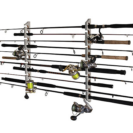 Rush Creek Creations 2-in-1 11-Rod Wall Ceiling Storage Rack, 38-3025