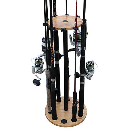 Rush Creek Creations Cherry 10 Round Rod Storage Rack, 38-3021