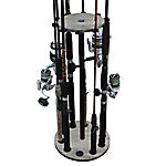Rush Creek Creations Barn Wood 10 Round Rod Storage Rack, 38-3022