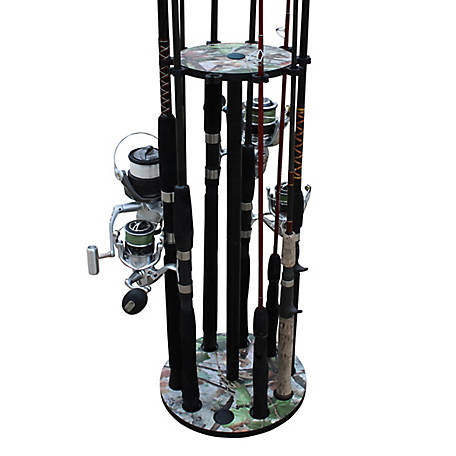 Rush Creek Creations Camo 10 Round Rod Storage Rack, 38-3023
