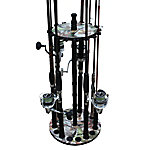 Rush Creek Creations Camo 16 Round Rod Floor Rack Wood Post, 38-4052
