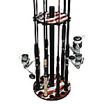 Rush Creek Creations Americana 16 Round Rod Rack Steel Post, 38-3027