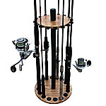Rush Creek Creations Cherry 16 Round Rod Rack Steel Post, 38-3030