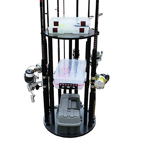 Rush Creek Creations 17 Spinning Rod Rack Storage Capacity, 38-3034