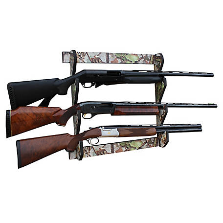 Rush Creek Creations Camo 3 Long Gun Wall Display Rack, 38-4042