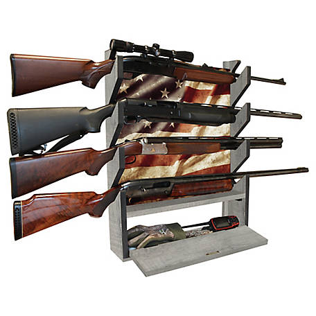 Rush Creek Creations Americana 4-Gun Storage Display Rack, 38-4047