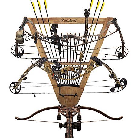 Rush Creek Creations Cherry 3-in-1 12-Arrow Bow Rack, 38-4049