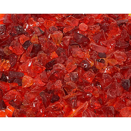 Margo Garden Products 1/4 in. Red Landscape Glass 10 lb., DFG10-L010S