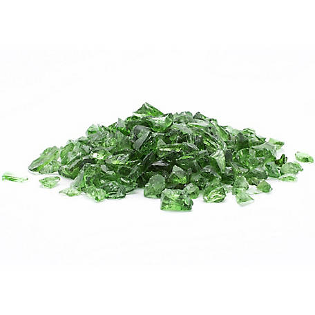 Margo Garden Products 1/2 in. Green Landscape Glass 10 lb., DFG10-L011M
