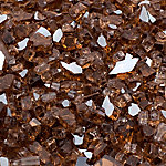 Margo Garden Products 1/4 in. Copper Reflective Fire Glass 10 lb., DFG10-R01