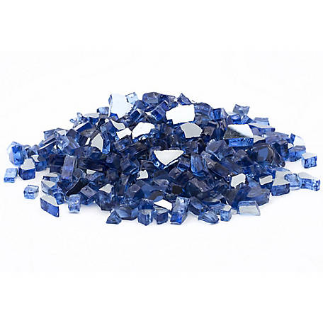 Margo Garden Products 1/4 in. Cobalt Blue Reflective Fire Glass 10 lb., DFG10-R02