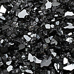 Margo Garden Products 1/4 in. Black Reflective Fire Glass 10 lb., DFG10-R03