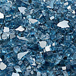 Margo Garden Products 1/2 in. Sky Blue Reflective Fire Glass 10 lb., DFG10-R04M