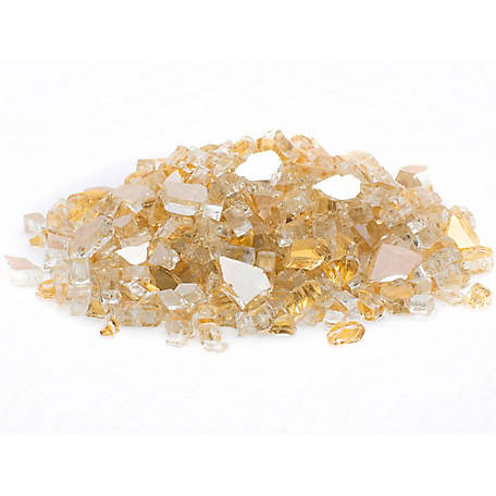 Margo Garden Products 1/2 in. Gold Reflective Fire Glass 10 lb., DFG10-R06M