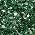 Margo Garden Products 1/4 in. Green Reflective Fire Glass 10 lb., DFG10-R07