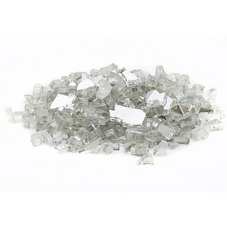 Margo Garden Products 1/2 in. Crystal Reflective Fire Glass 10 lb., DFG10-R09M