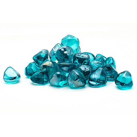 Margo Garden Products Decorative Fire Glass Aqua Diamonds, 20 lb.