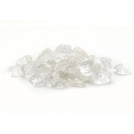 Margo Garden Products 1/2 in. 20 lb. Ice Clear Landscape Glass, DFG20-L01M