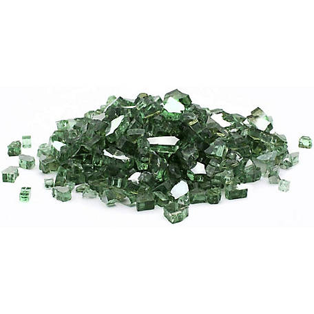 Margo Garden Products 1/4 in. 20 lb. Green Reflective Fire Glass, DFG20-R07