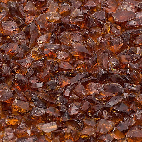 Margo Garden Products 1/4 in. 25 lb. Amber Landscape Glass, DFG25-L012S