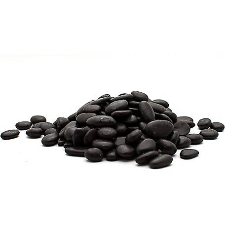 Rain Forest Small Black Polished Pebbles 2,200 lb.
