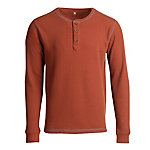 Blue Mountain Men's Long Sleeve Waffle Henley HTR Shirt FMK19