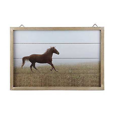 Red Shed Open Range Horse Wall Piece
