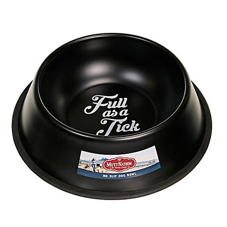 MuttNation Fueled by Miranda Lambert Black Faux Enamel Dog Bowl, YE19403N-1