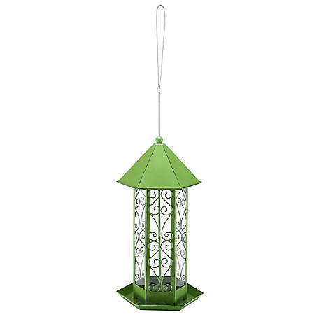 Royal Wing Hexagonal Green Bird Feeder, BC-20180905018A