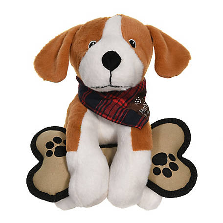 MuttNation Fueled by Miranda Lambert Plush Beagle with Canvas Bone Toy, Brown, MSDT147