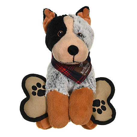 MuttNation Fueled by Miranda Lambert Plush Blue Healer with Canvas Bone Toy, MSDT149