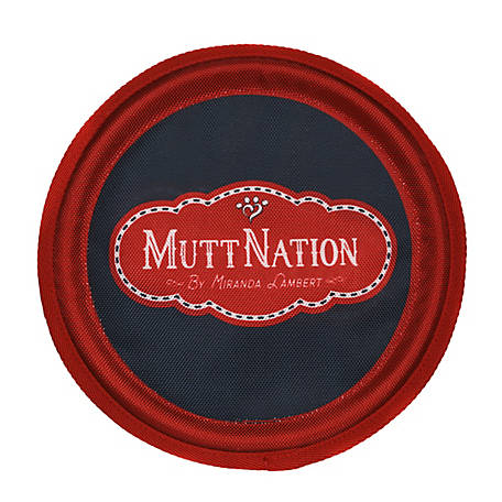 MuttNation Fueled by Miranda Lambert 9.5 in. Fabric Frisbee, 19BB0063