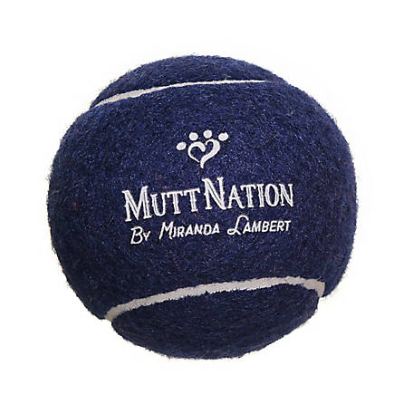 MuttNation Fueled by Miranda Lambert 2.5 in. Blue Tennis Ball, MSTB001