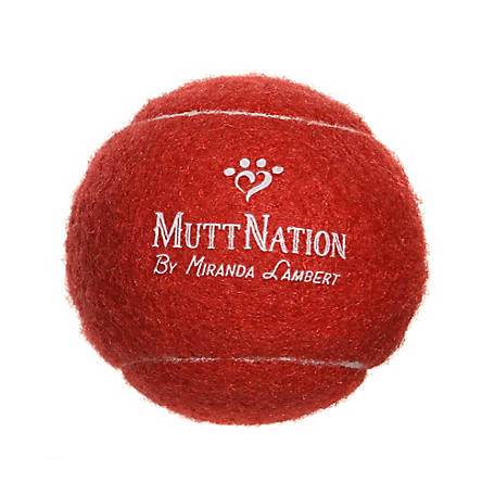 MuttNation Fueled by Miranda Lambert 2.5 in. Red Tennis Ball, MSTB002