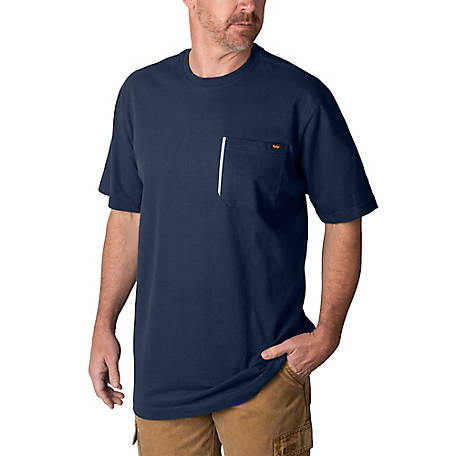 Walls Men's Grit Heavyweight Short-Sleeve Cotton Work T-Shirt