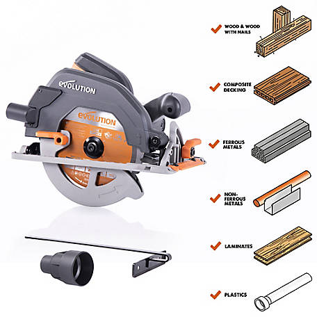 Evolution 7-1/4 in. Multi-Material Circular Saw, R185CCS