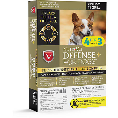 Nutri-Vet Defense Plus Flea & Tick Bonus Pack SM Dog, 1030349