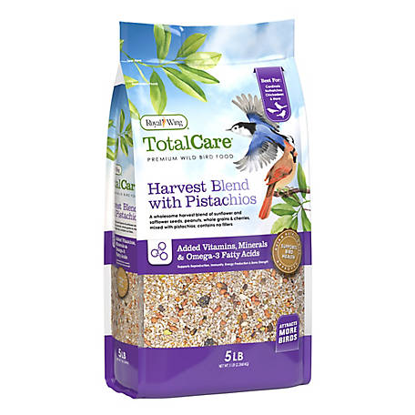 Royal Wing Total Care Total Care Harvest Blend Bird Seed, 5 lb.
