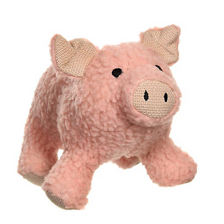 MuttNation Fueled by Miranda Lambert Squeaking Pig Dog Toy, 1212