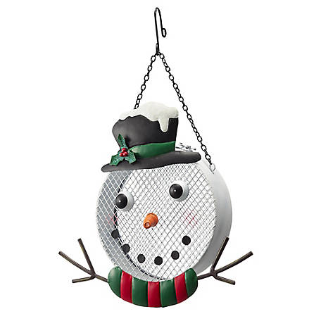 Royal Wing Snowman Mesh Bird Feeder, LH011335-1