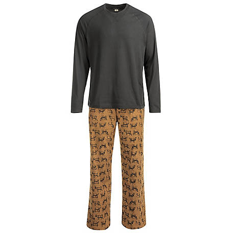 Blue Mountain Men's Goat Pajama Set
