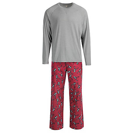 Blue Mountain Men's Deer Head Pajama Set