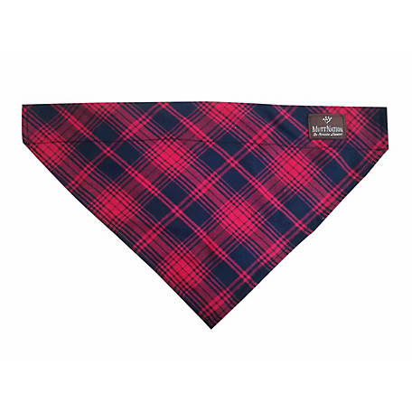 MuttNation Fueled by Miranda Lambert Plaid Slip-On Dog Bandana, MSDD003-L