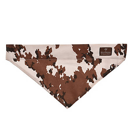 MuttNation Fueled by Miranda Lambert Canvas Slip-On Dog Bandana, Cow Pattern, MSDD006-L