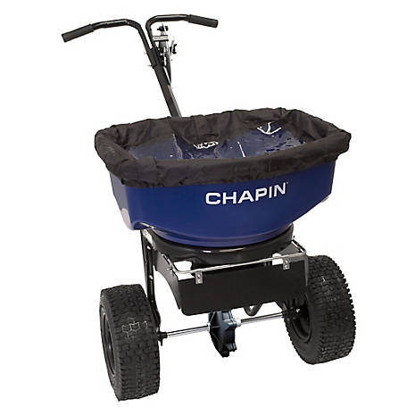 Chapin 80 lb. Pro Sure Spread Salt/Ice Melt Spreader with Baffles, 82088B